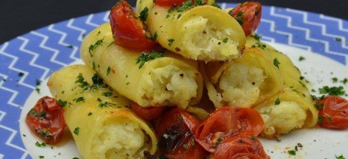 parola al cibo ricette Paccheri al forno ripieni di cernia