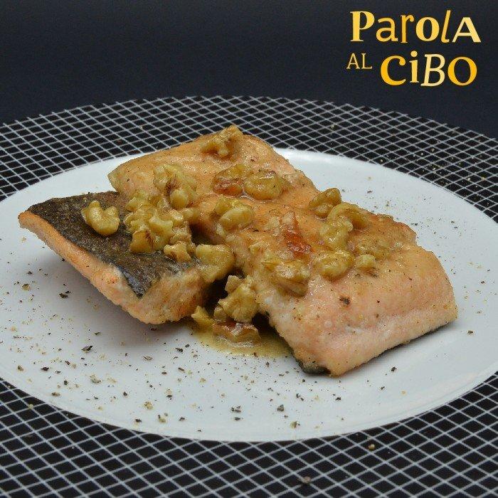 scuola di cucina parola al cibo ricette Filetti di trota al burro con rum e noci